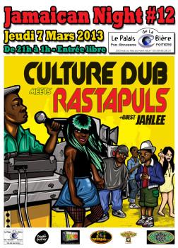 les sessions reggae / dub / jamaïcaine au palais de la bière à poitiers