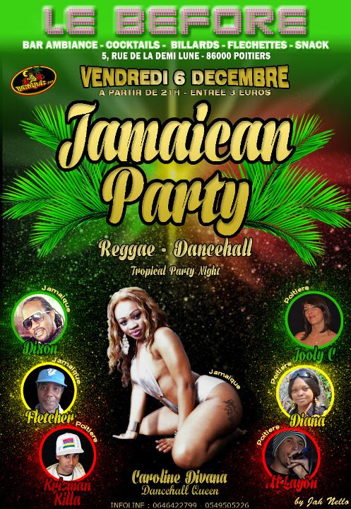 Soirée Reggae Dancehall au Bar Le Before à Poitiers le vendredi 6 décembre 2013