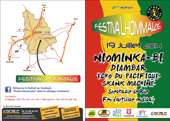 flyer festival reggae lhommaizé 19 juillet 2014
