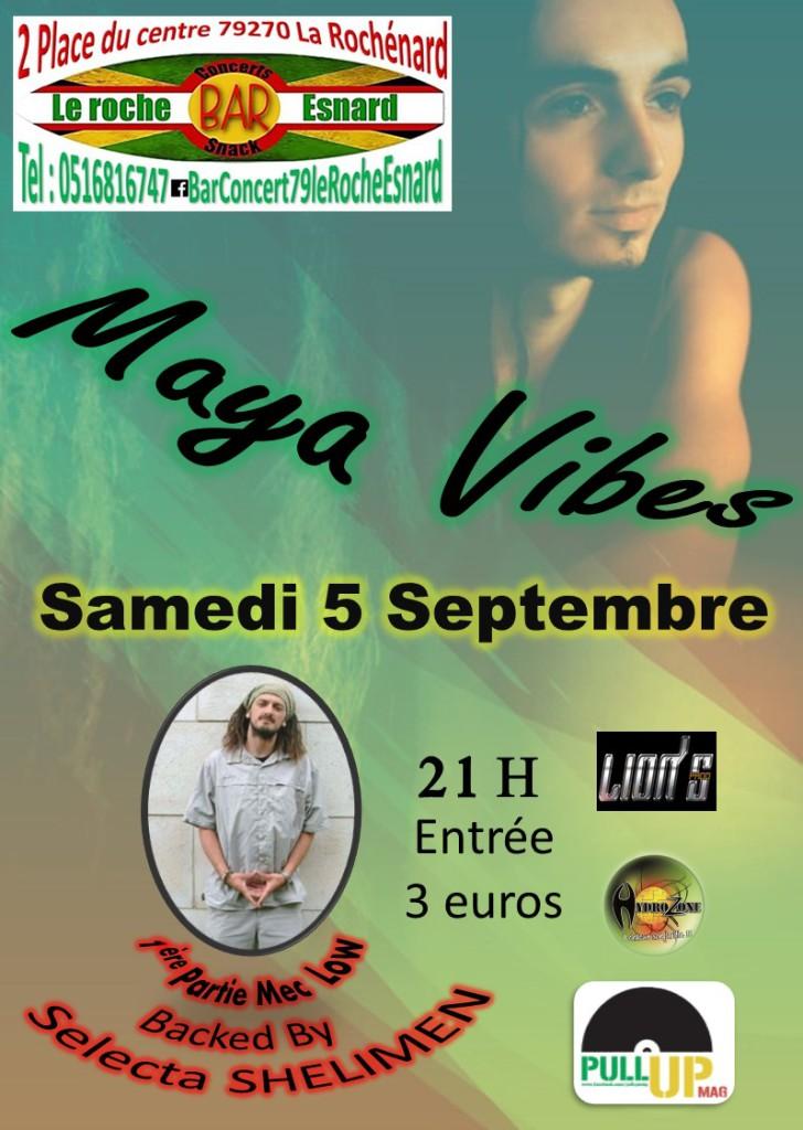 Retrouvez Maya Vibes en live au bar Le Roche Esnard.