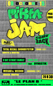 "Pikta'Jam 09 oct 2015 Total Recall Sound System Missah & Weedo - Rules of Peace V'Dit""Strikt"" & Dynastik"